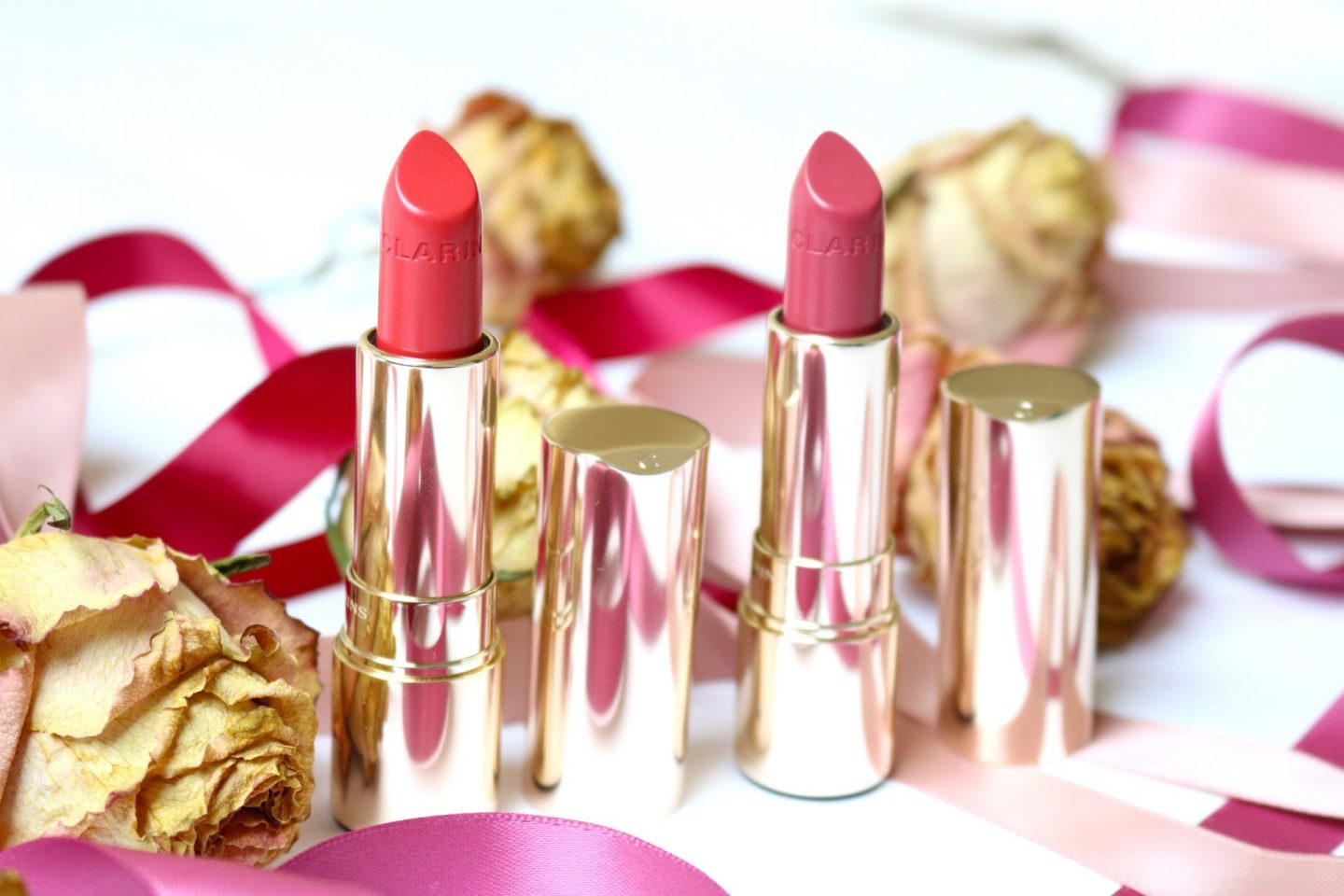 Clarins Joli Rouge Lipstick has new colors! Guava and Litchi