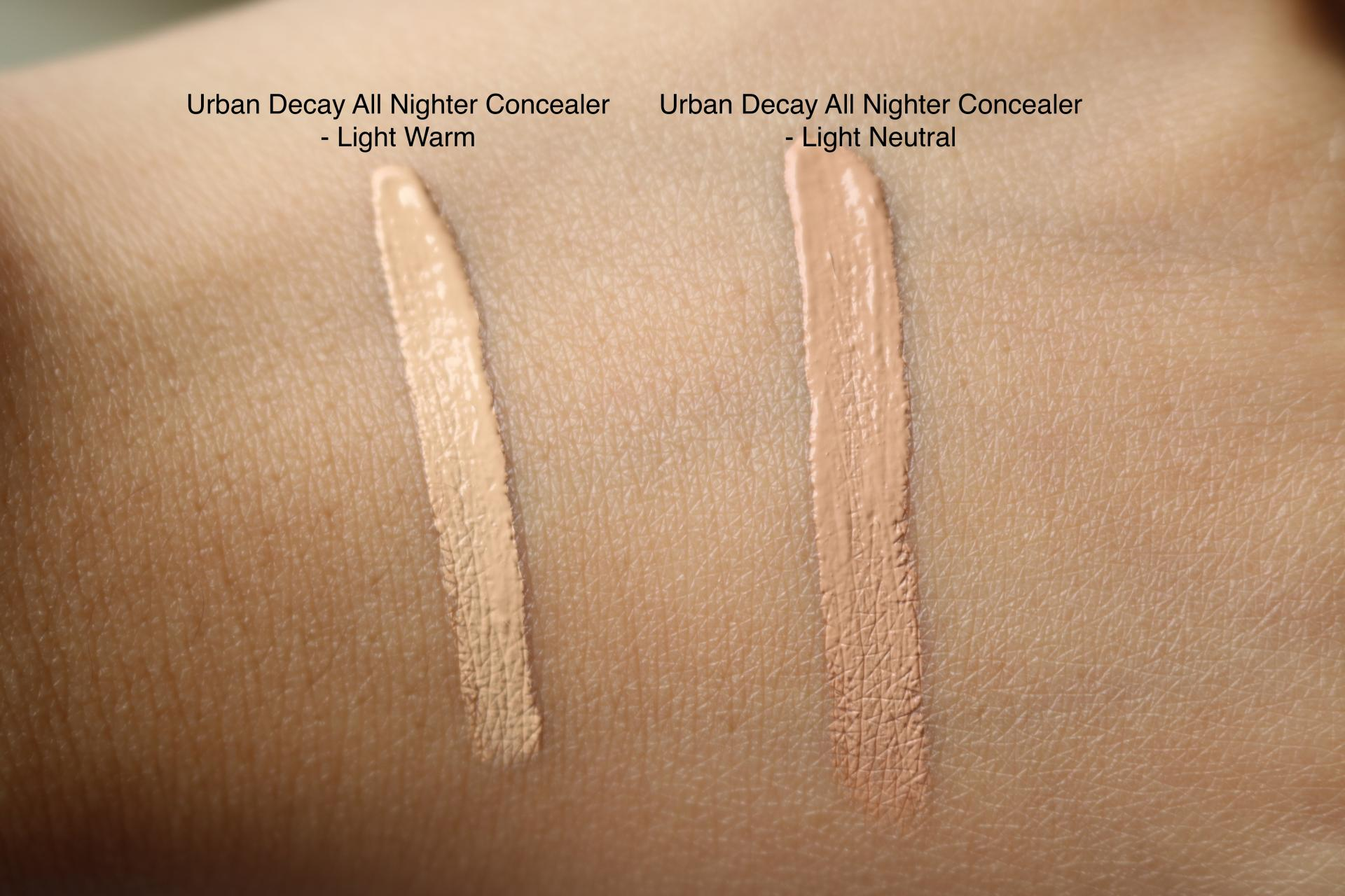 All Nighter Concealer Swatches