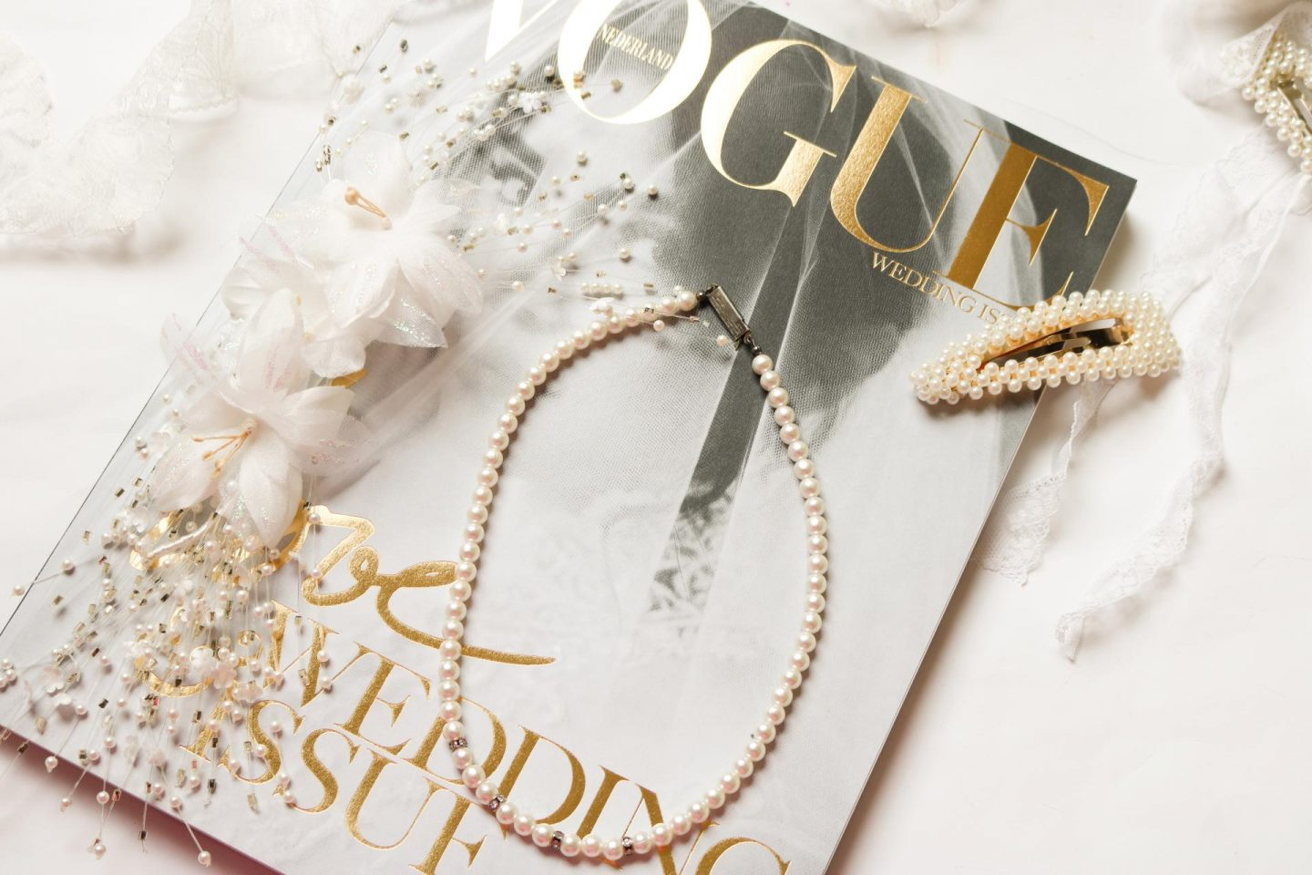 Bride to be with Vogue Wedding