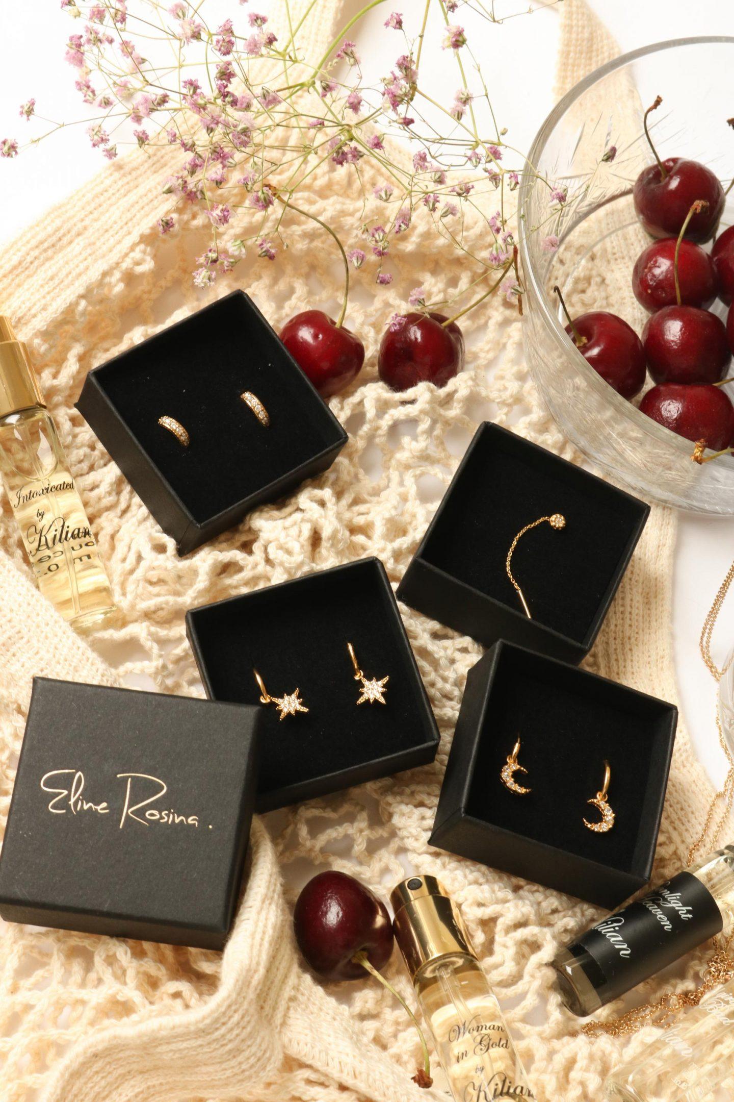golden earrings by eline rosina