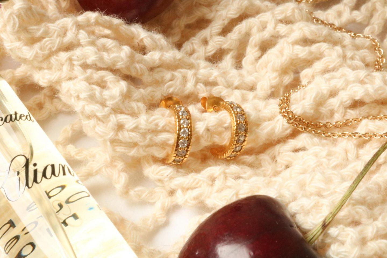 golden earrings chuncky hoops eline rosina