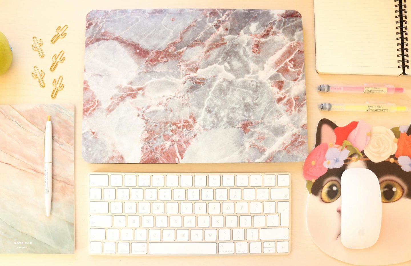 Cute marble Macbook case by MobiGear