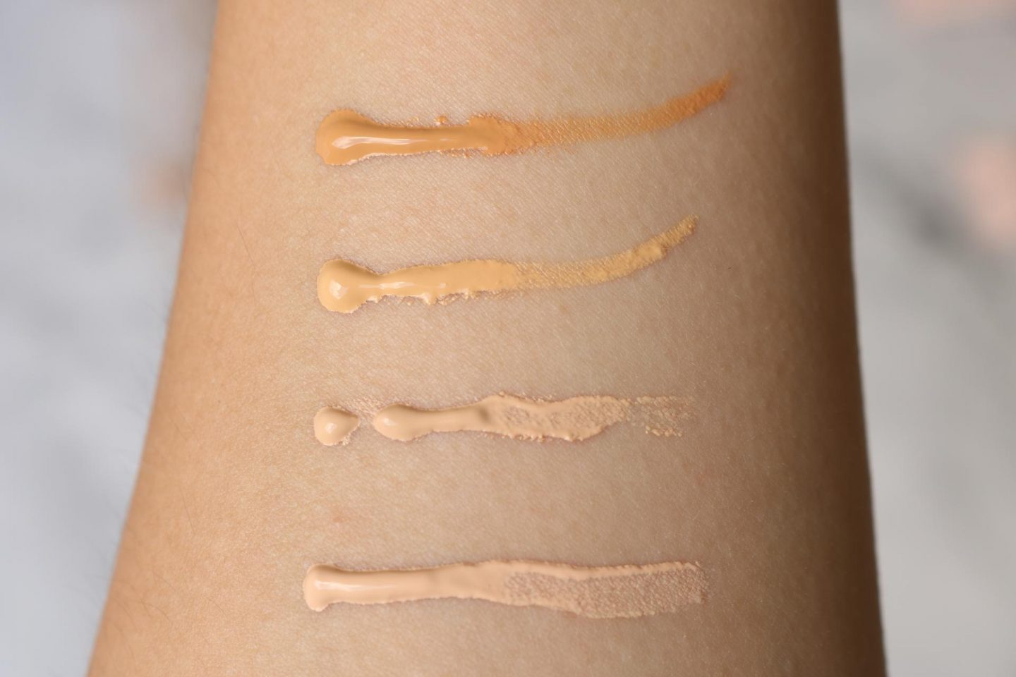 Nyx Professional Makeup Bare With Me Tinted Skin Veil foundation review swatches